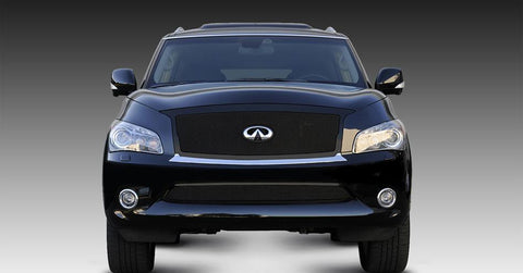 QX56 Grille 11-13 Infiniti QX56 Mild Steel Powdercoat Black Upper Class Series T-REX Grilles