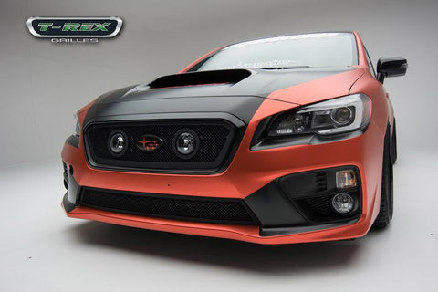 WRX Grille 15-17 Subaru WRX Mild Steel Powdercoat Black 1 Piece Upper Class Series T-REX Grilles