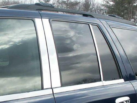 QAA PART  PP42294 fits ENVOY 2002-2009 GMC (6 Pc: Stainless Steel Pillar Post Trim Kit , 4-door, SUV (NOT XL)) PP42294
