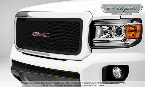 Canyon Bumper Grille 15-18 GMC Canyon Mild Steel Powdercoat Black Upper Class Series T-REX Grilles