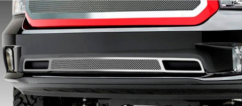 Ram 1500 Bumper Grille 13-18 Dodge Ram 1500 Mild Steel Powdercoat Black 1 Piece Upper Class Series T-REX Grilles