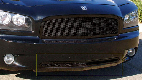 Charger Bumper Grille 05-10 Dodge Charger Mild Steel Powdercoat Black Upper Class Series T-REX Grilles
