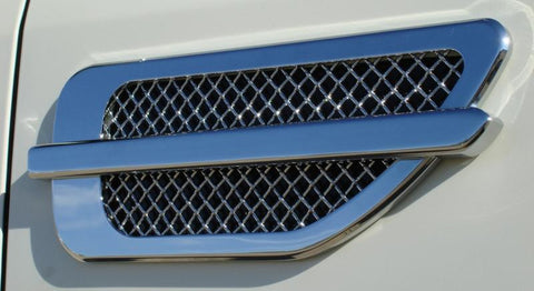 Side Vent Grille Billet Chrome Plated Upper Class Series T-REX Grilles