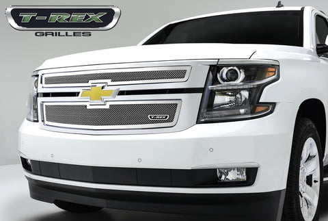 Suburban/Tahoe Grille 15-18 Chevrolet Suburban/Tahoe Stainless Polished 2 Piece Upper Class Series T-REX Grilles