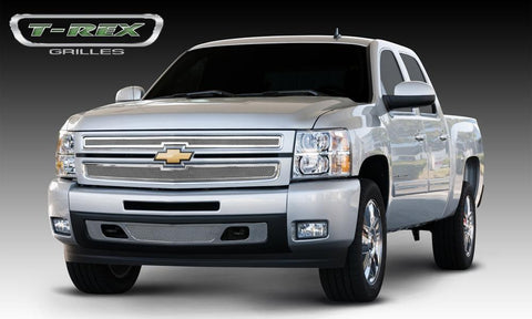 Silverado 1500 Grille 07-13 Chevrolet Silverado 1500 Stainless Polished 2 Piece Upper Class Series T-REX Grilles