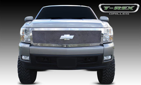 Silverado 1500 Grille 07-13 Chevrolet Silverado 1500 Stainless Polished 1 Piece Upper Class Series T-REX Grilles