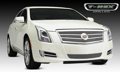 XTS Grille 13-14 Cadillac XTS Main 2 Bars Stainless Polished 1 Piece Upper Class Series T-REX Grilles