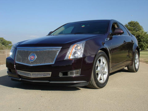 CTS Grille Full Opening08-13 Cadillac CTS Stainless Polished Upper Class Series T-REX Grilles