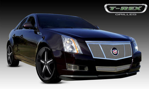 CTS Grille 3 Opening Design 08-13 Cadillac CTS Stainless Polished Upper Class Series T-REX Grilles
