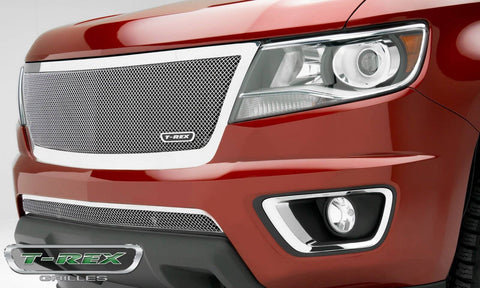 Colorado Grille 15-18 Chevrolet Colorado Stainless Polished 1 Piece Upper Class Series T-REX Grilles