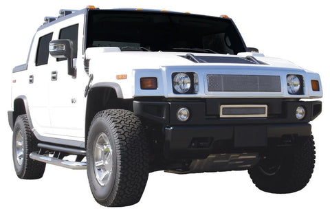 H2 Grille 03-07 Hummer H2 Stainless Polished Upper Class Series T-REX Grilles