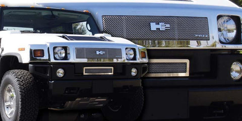 H2 Grille 08-09 Hummer H2 Stainless Polished Upper Class Series T-REX Grilles