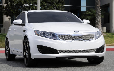 Optima Grille 11-13 Kia Optima Stainless Polished Upper Class Series T-REX Grilles