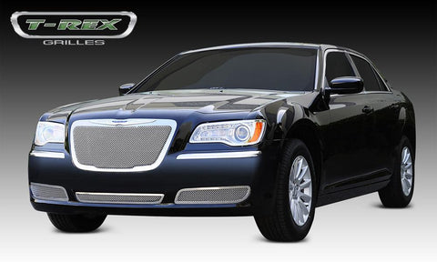 Chrysler 300 All Grille 11-14 Chrysler 300 All Stainless Polished Upper Class Series T-REX Grilles