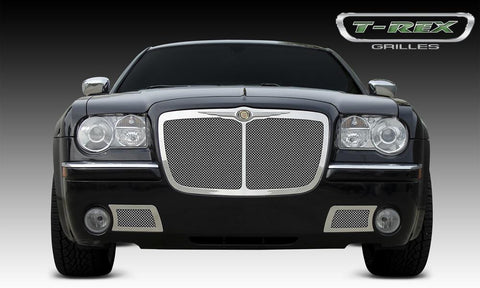 Chrysler 300 Grille 05-10 Chrysler 300 W/Center Vertical Bar Stainless Polished Upper Class Series T-REX Grilles