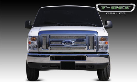 Econoline XLT Grille 08-14 Ford Econoline XLT Stainless Polished 6 Piece Upper Class Series T-REX Grilles