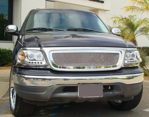 F-150/Expdition Grille 97-02 Ford F-150/Expdition Stainless Polished Upper Class Series T-REX Grilles