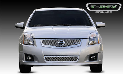 Sentra Grille 08-12 Nissan Sentra 2.0 Stainless Polished Upper Class Series T-REX Grilles