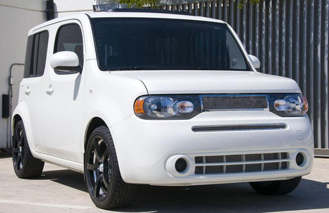 Cube Grille 09-13 Nissan Cube Stainless Polished Upper Class Series T-REX Grilles