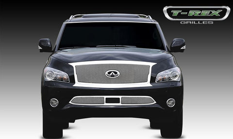 QX56 Grille 11-13 Infiniti QX56 Stainless Polished Upper Class Series T-REX Grilles
