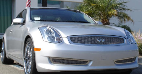 G-35 Coupe Grille 03-07 Infiniti G-35 Coupe Stainless Polished Upper Class Series T-REX Grilles