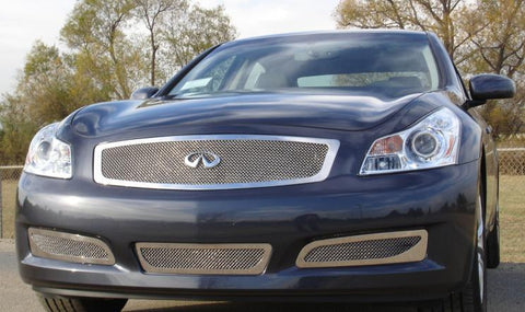 G-35 Sedan Grille 07-08 Infiniti G-35 Sedan Stainless Polished Upper Class Series T-REX Grilles