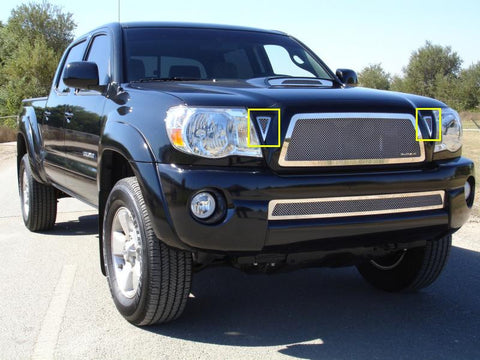 Tacoma Grille 05-10 Toyota Tacoma Stainless Polished 2 Piece Upper Class Series T-REX Grilles