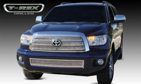 Sequoia Grille 08-14 Toyota Sequoia Stainless Polished 4 Piece Upper Class Series T-REX Grilles