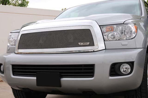 Sequoia Grille 08-14 Toyota Sequoia Stainless Polished 1 Piece Upper Class Series T-REX Grilles