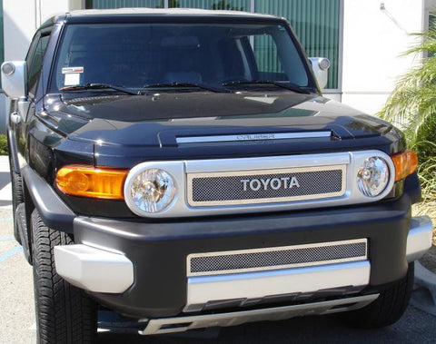 FJ Cruiser Grille 07-14 Toyota FJ Cruiser Stainless Polished 2 Piece Upper Class Series T-REX Grilles
