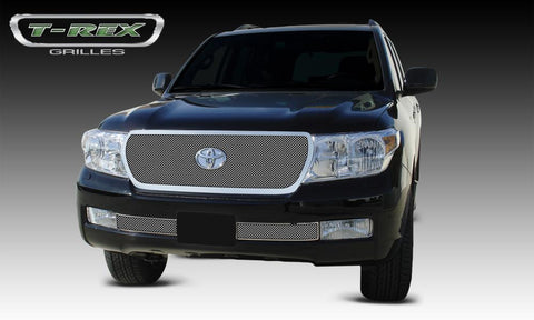 Land Cruiser Grille 08-12 Toyota Land Cruiser Stainless Polished Upper Class Series T-REX Grilles