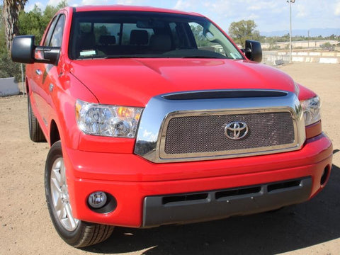 Tundra Grille 07-09 Toyota Tundra Stainless Polished 1 Piece Upper Class Series T-REX Grilles