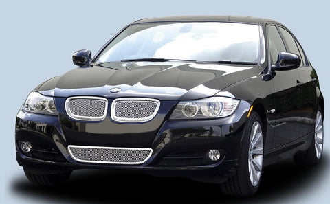 BMW 3 Series Grille 09-11 BMW 3 Series Stainless Polished 2 Piece Upper Class Series T-REX Grilles