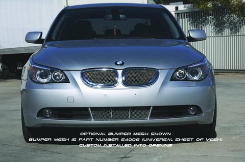 5 Series Sedan Grille 06-08 BMW 5 Series Sedan Stainless Polished 2 Piece Upper Class Series T-REX Grilles