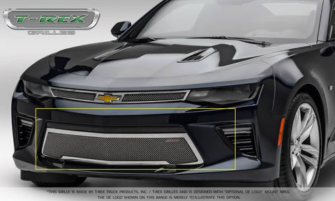 Camaro Bumper Grille 16-18 Chevrolet Camaro V6 Stainless Polished Upper Class Series T-REX Grilles