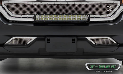 Silverado Bumper Grille 16-18 Chevrolet Silverado Stainless Polished Upper Class Series T-REX Grilles