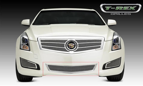 ATS Bumper Grille 13-14 Cadillac ATS Stainless Polished 1 Piece Upper Class Series T-REX Grilles