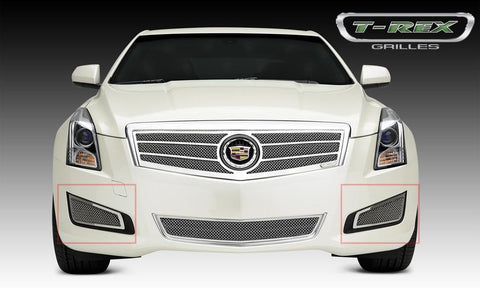 ATS Bumper Grille 13-14 Cadillac ATS Stainless Polished 2 Piece Upper Class Series T-REX Grilles