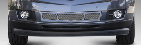 SRX Bumper Grille Overlay10-16 Cadillac SRX 3 Window Design Stainless Polished Upper Class Series T-REX Grilles
