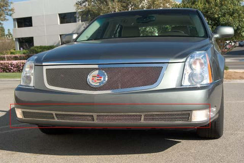 DTS Bumper Grille 06-11 Cadillac DTS Stainless Polished Upper Class Series T-REX Grilles