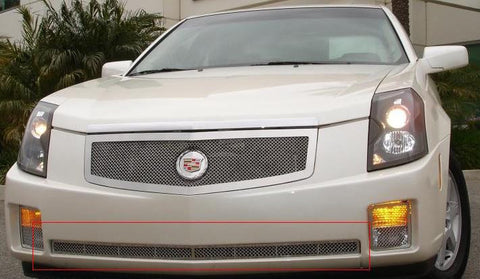 CTS Bumper Grille 03-07 Cadillac CTS Stainless Polished Upper Class Series T-REX Grilles