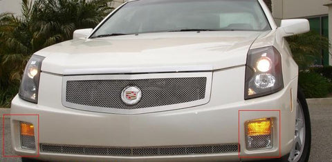 CTS Bumper Grille 03-07 Cadillac CTS Stainless Polished 2 Piece Upper Class Series T-REX Grilles