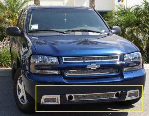 Trailblazer SS Bumper Grille 06-09 Chevrolet Trailblazer SS Stainless Polished 3 Piece Upper Class Series T-REX Grilles