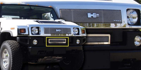 H2 Bumper Grille 08-09 Hummer H2 Stainless Polished Upper Class Series T-REX Grilles