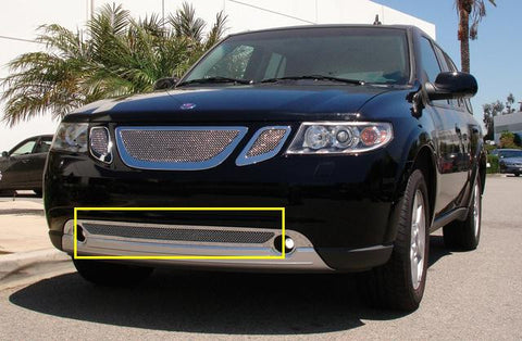 Saab Bumper Grille 07-09 Saab 9-7X Stainless Polished Upper Class Series T-REX Grilles