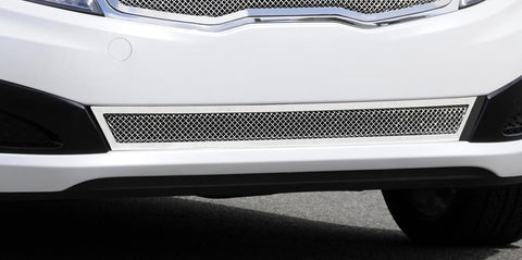 Optima Bumper Grille 11-13 Kia Optima Stainless Polished Upper Class Series T-REX Grilles