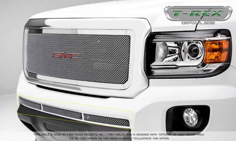 Canyon Bumper Grille 15-18 GMC Canyon Stainless Polished Upper Class Series T-REX Grilles