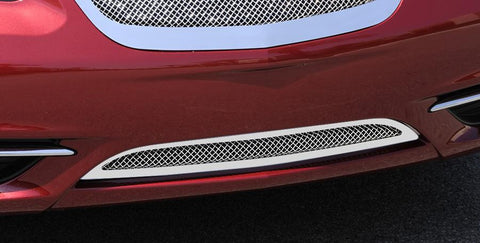 Chrysler 200 Bumper Grille 11-14 Chrysler 200 Stainless Polished Stainless Upper Class Series T-REX Grilles