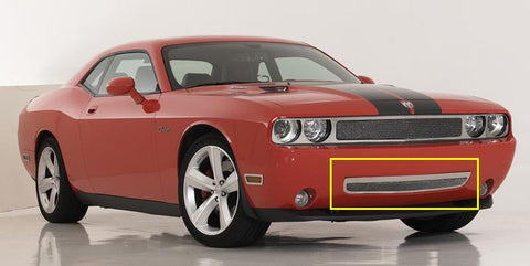 Challenger Bumper Grille 09-10 Dodge Challenger Stainless Polished Upper Class Series T-REX Grilles