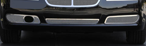 Chrysler 300 Bumper Grille 11-14 Chrysler 300 with Adaptive Cruise Stainless Polished 2 Piece Upper Class Series T-REX Grilles